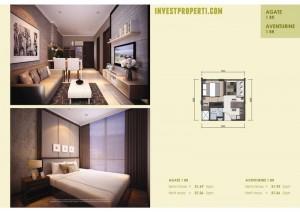 Apartemen Agate Aventurine 1BR
