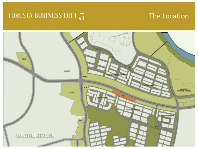 Foresta Business Loft 5 Map Location