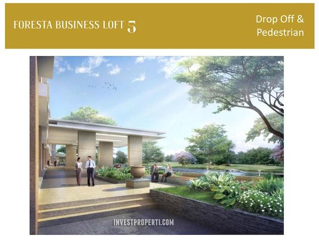 Drop Off Pedestrian Foresta Business Loft