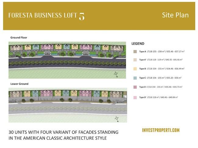 Foresta Business Loft 5 Site Plan