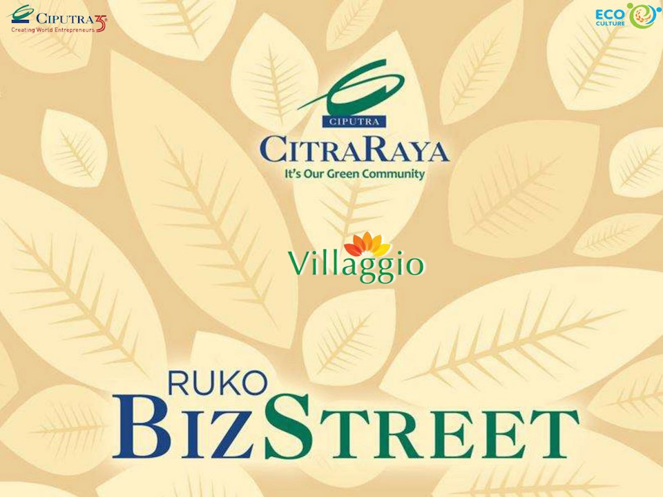 Brosur Ruko BizStreet Villaggio CitraRaya
