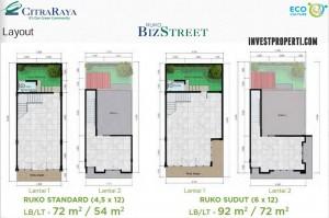 Tipe Unit Ruko BizStreet Villaggio