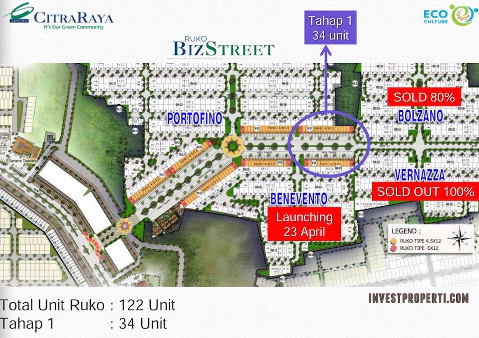 Site Plan Ruko BizStreet CitraRaya