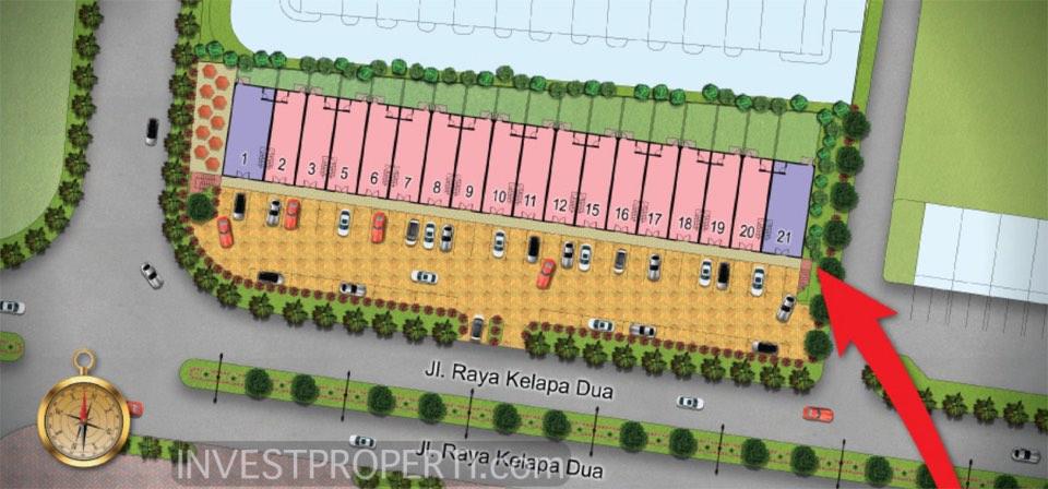 Site Plan Ruko Arkadia Square