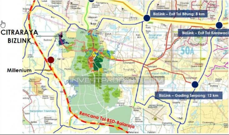 Peta Lokasi BizHome Citra Raya