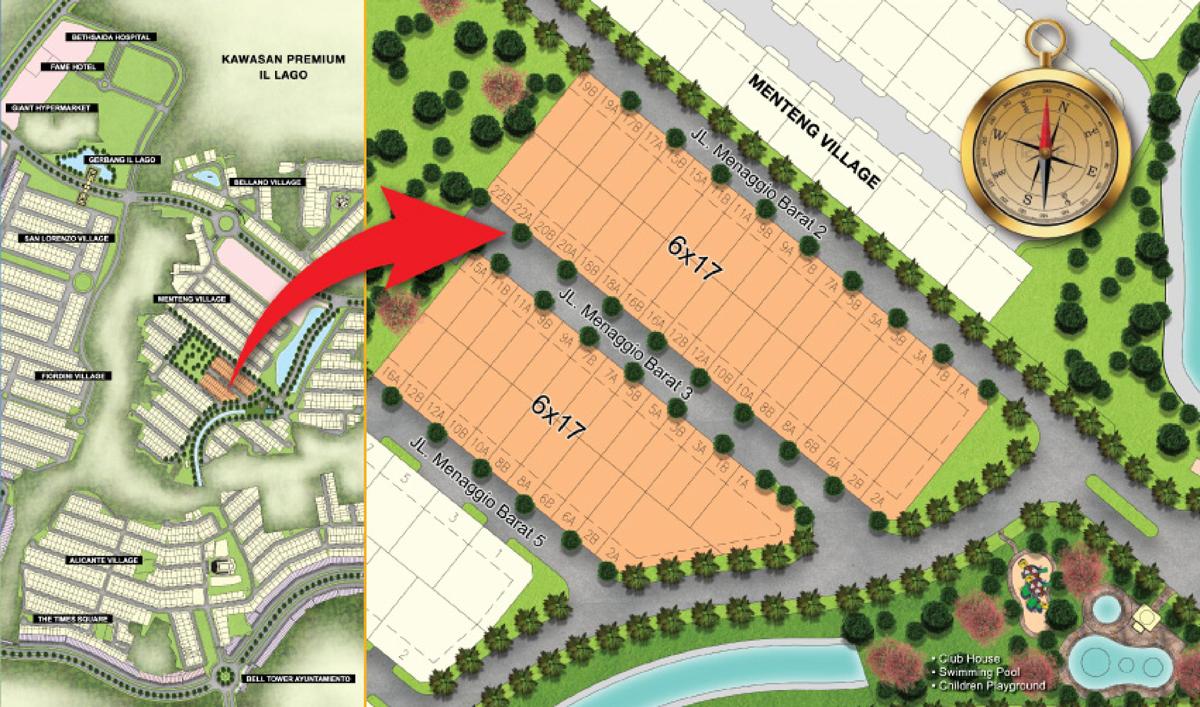 Site Plan Menaggio Village Gading Serpong