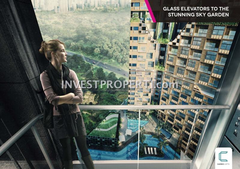 Cambio Lofts Alam Sutera Glass Elevator