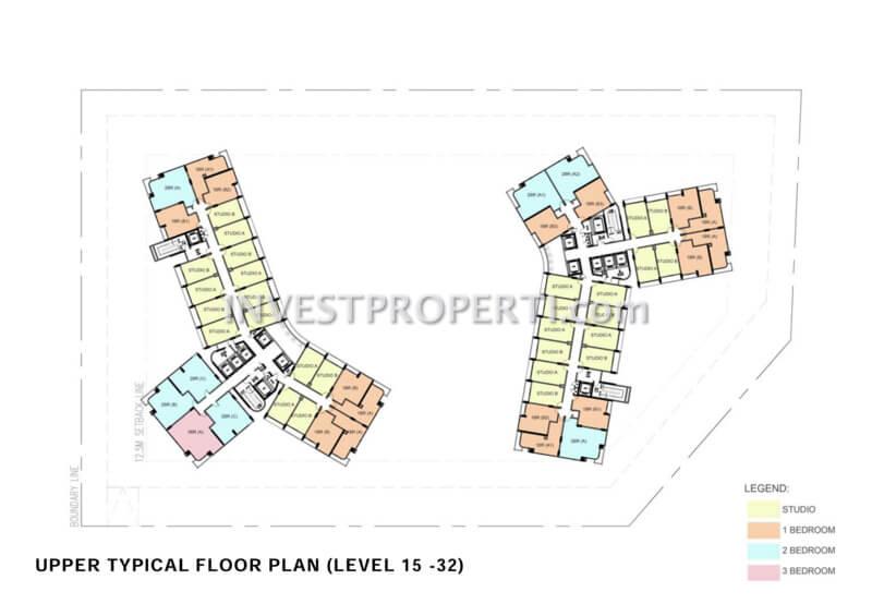 Cambio Lofts Alam Sutera Floor Plan 15-32