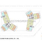 Cambio Lofts Alam Sutera Floor Plan 33-34