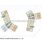 Cambio Lofts Alam Sutera Floor Plan 9-14