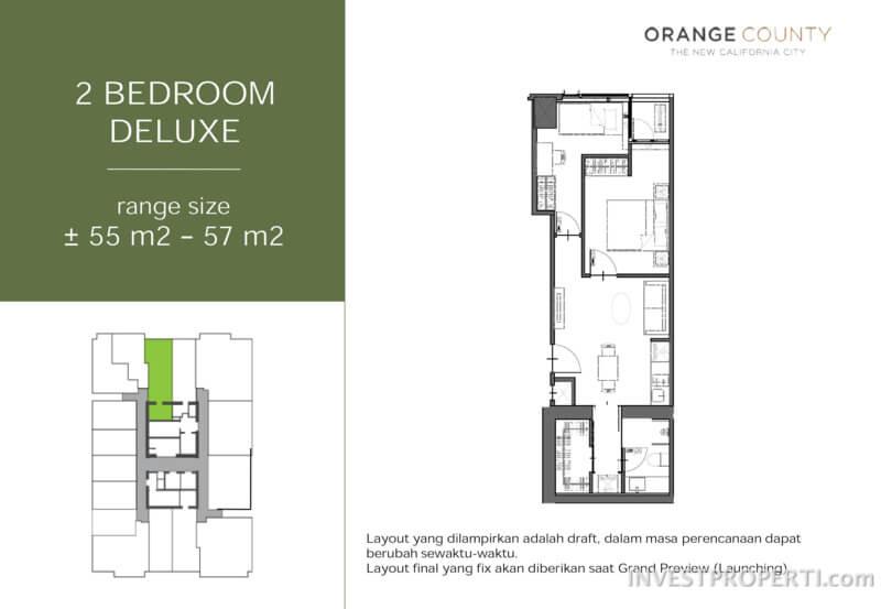 2 BR Deluxe Floor Plan Unit Type
