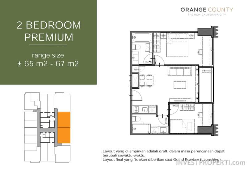 2 BR Premium Floor Plan