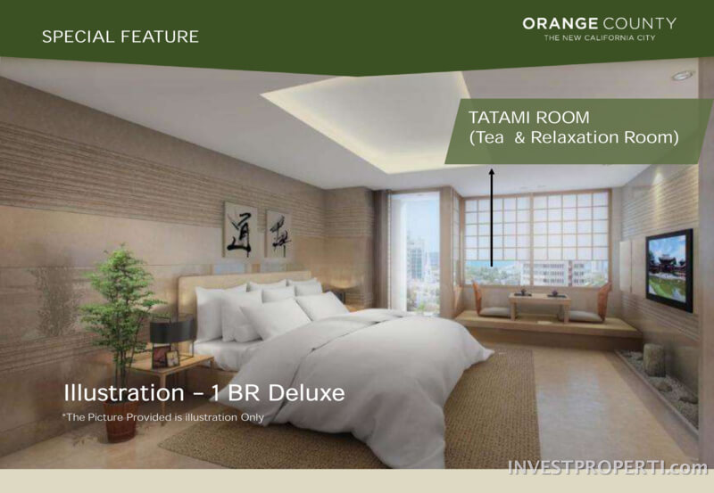 Tatami Feature @ Orange County Cikarang Apartment