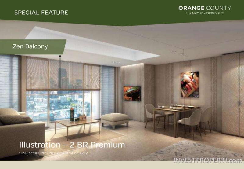 Zen Balcony @ Orange County Cikarang Apartemen