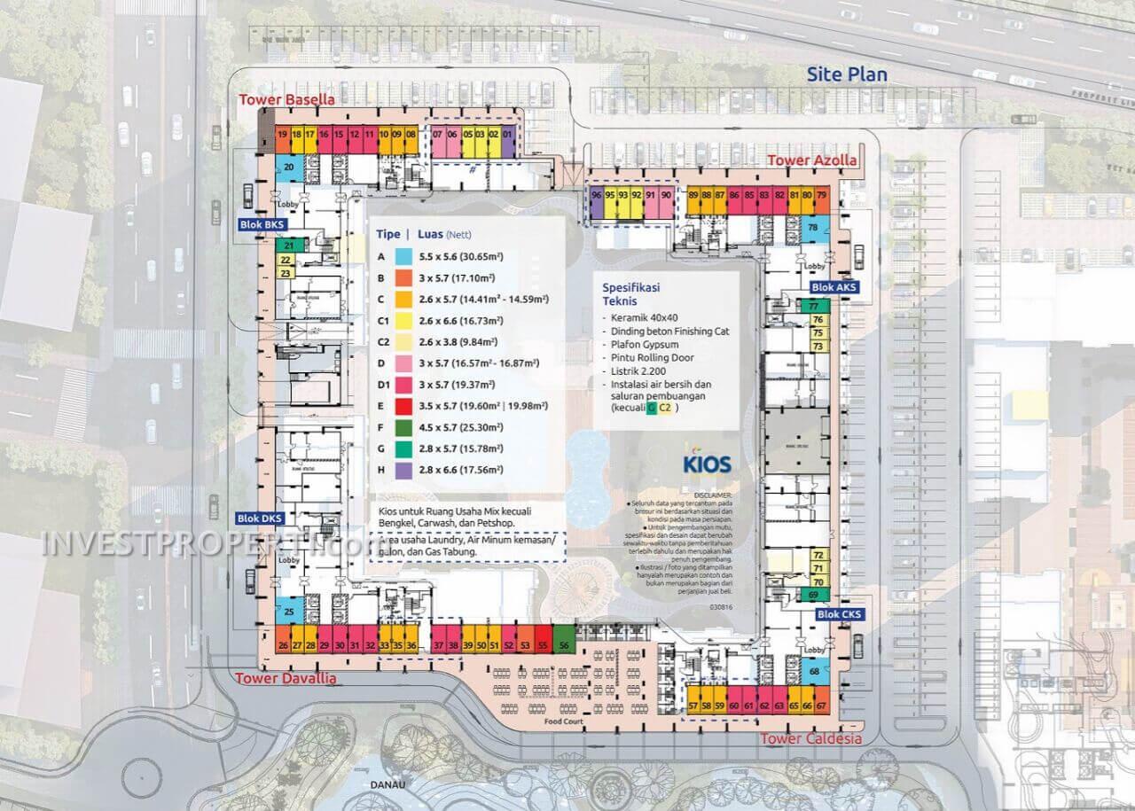 Site Plan Kios Apartemen Springlake Bekasi