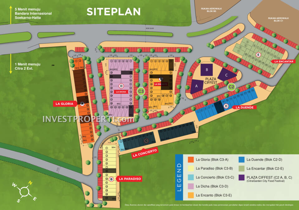 Siteplan Rukan AeroBliss AeroWorld 8