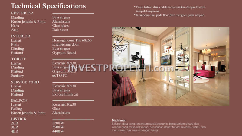 Spesifikasi Bangunan Rainbow Spring Condo Villa Summarecon Serpong