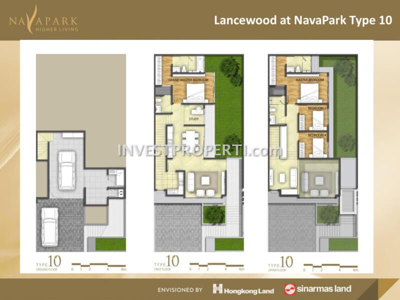 cluster-lancewood-navapark-bsd-tipe-10-denah