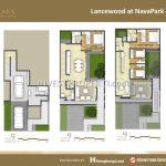 Denah Rumah Lancewood NavaPark Tipe 9