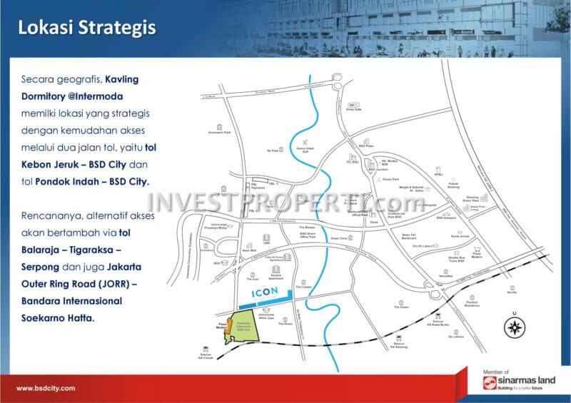 Peta Lokasi Strategis Intermoda BSD