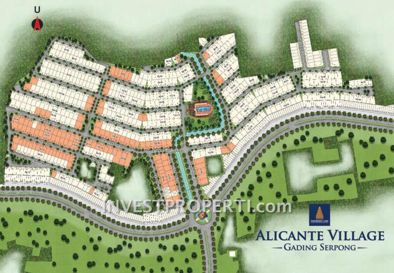 Site Plan Kavling Super PI Cluster Alicante