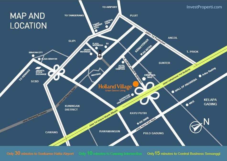 Peta Lokasi Holland Village Apartemen