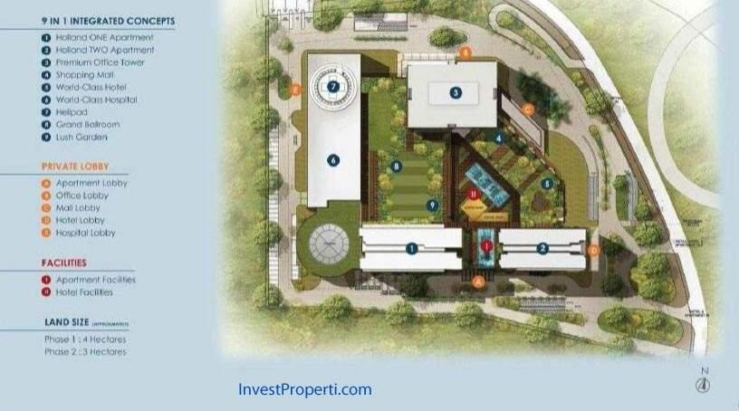 Site Plan Apartemen Holland Village Cempaka Putih