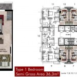 Tipe 1BR Hook Apartemen Grand Pancoran