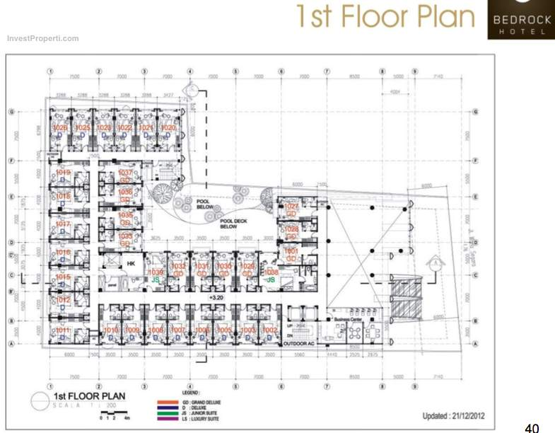 1st Floor Plan Bedrock Hotel Kuta