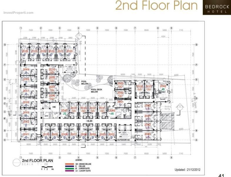 2nd Floor Plan Bedrock Hotel Kuta