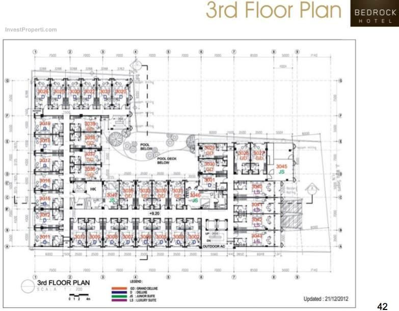 3rd Floor Plan Bedrock Hotel Kuta