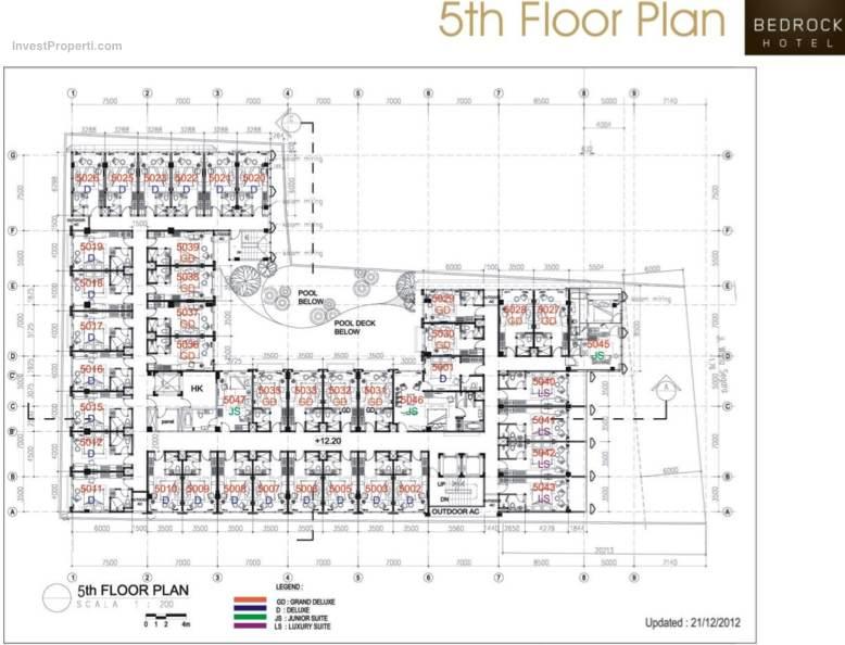 5th Floor Plan Bedrock Hotel Kuta