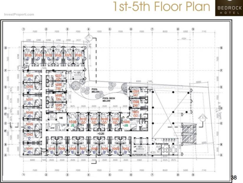 1st-5th Floor Plan Bedrock Hotel Kuta