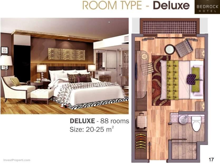 Deluxe Room Type Bedrock Hotel Bali