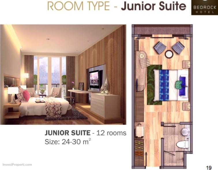 Junior Suite Room Type Bedrock Hotel Bali