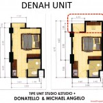 Tipe unit Studio Easton Park Serpong Apartment