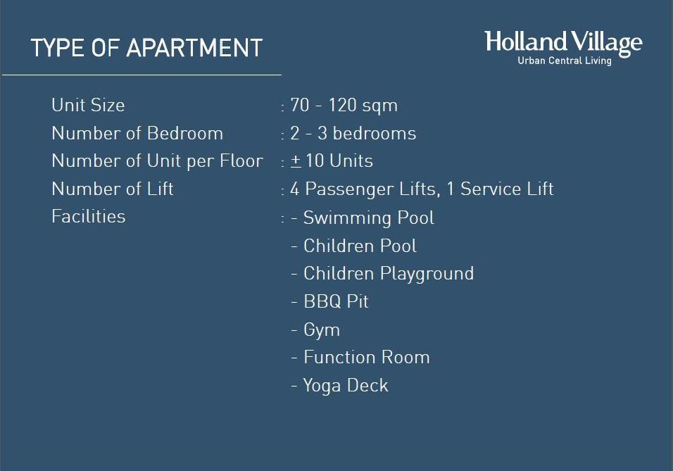 Holland Village Apartment Brosur 27