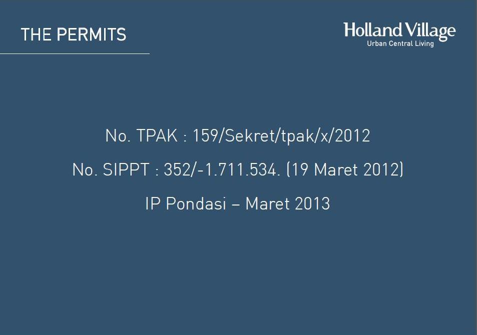 Holland Village Apartment Brosur 33