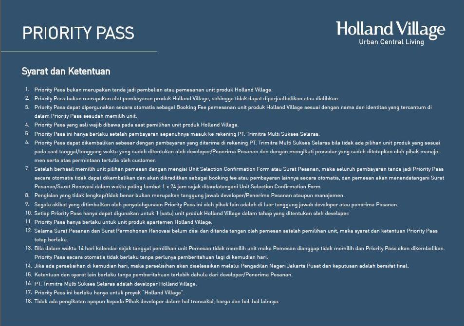 Holland Village Apartment Brosur 42