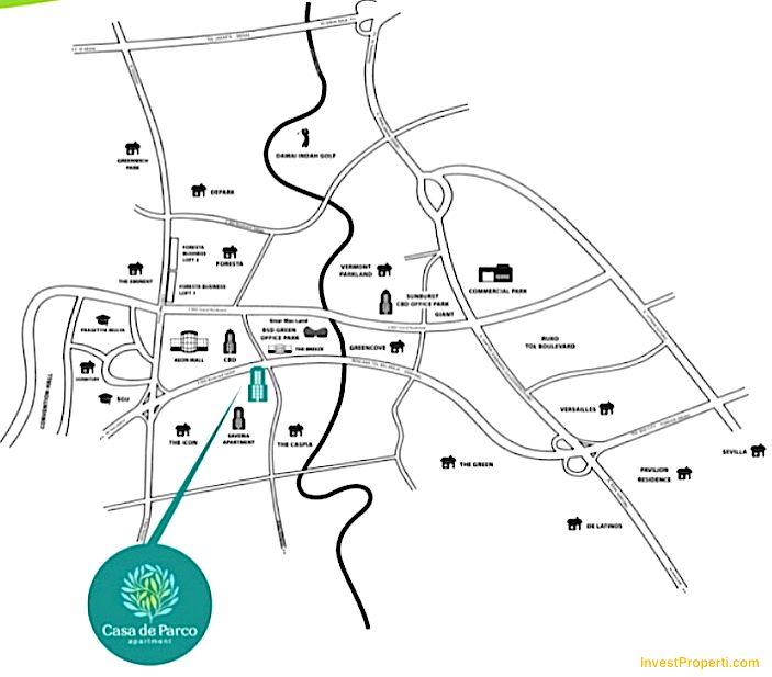 Peta Lokasi Casa De Parco Bsd City