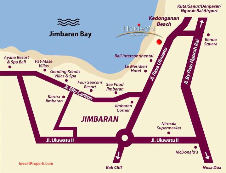 Peta Lokasi Condotel Horison Jimbaran Bali