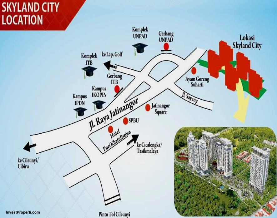 Peta Lokasi Skyland City Jatinagor