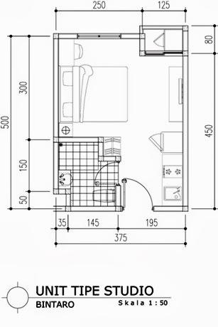 Tipe Studio Apartemen Bintaro Icon