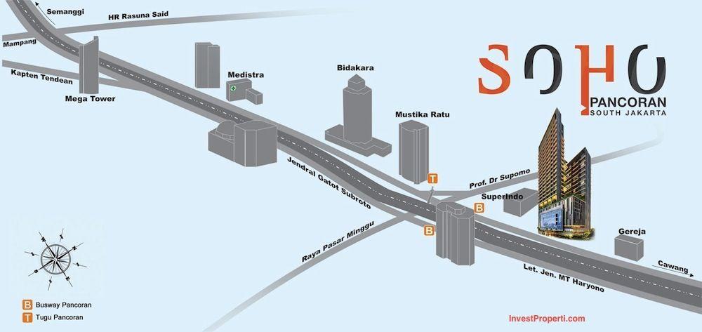 Map SOHO Pancoran Jakarta