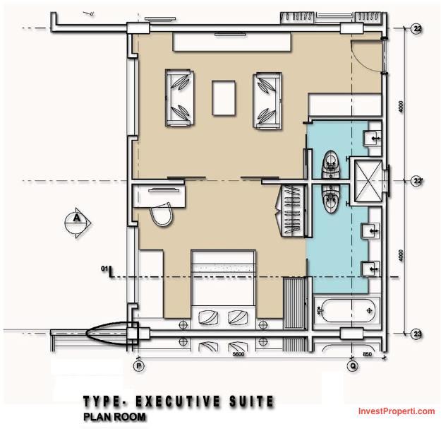 Executive Suite Room Mercure Legian Condotel
