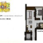 Tipe 2BR + Study Room