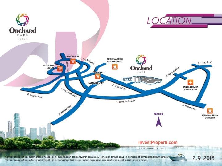 Orchard Park Batam Map
