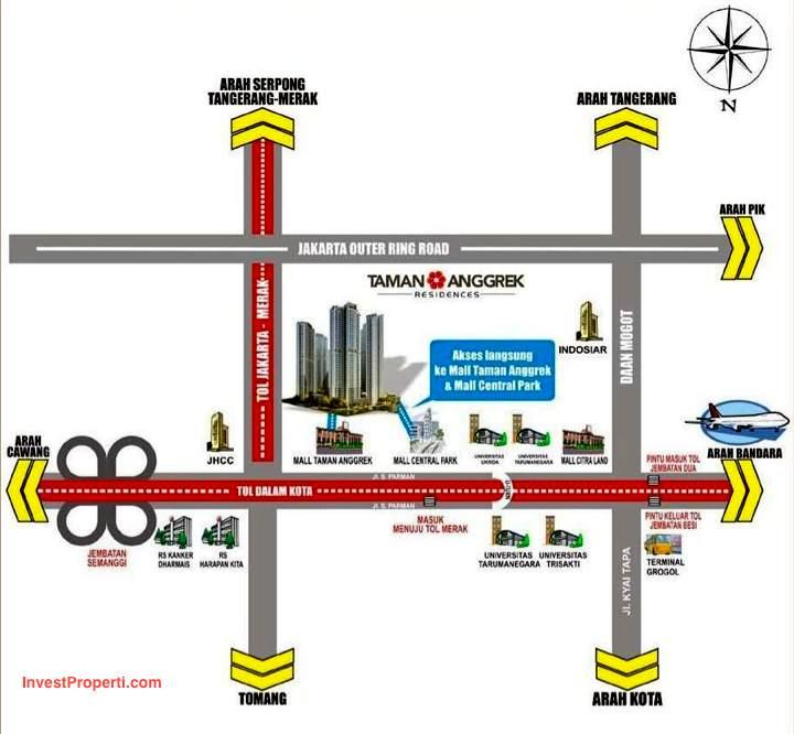 Peta Lokasi Taman Anggrek Residences