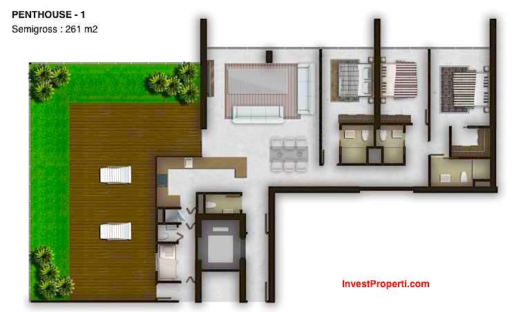 Tipe Unit Penthouse 1