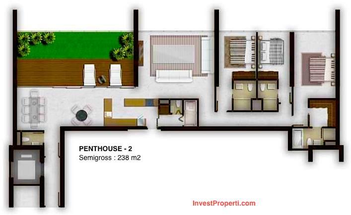 Tipe Unit Penthouse 2
